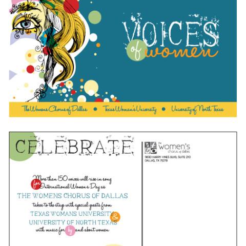 Voices of Women Concert Postcard