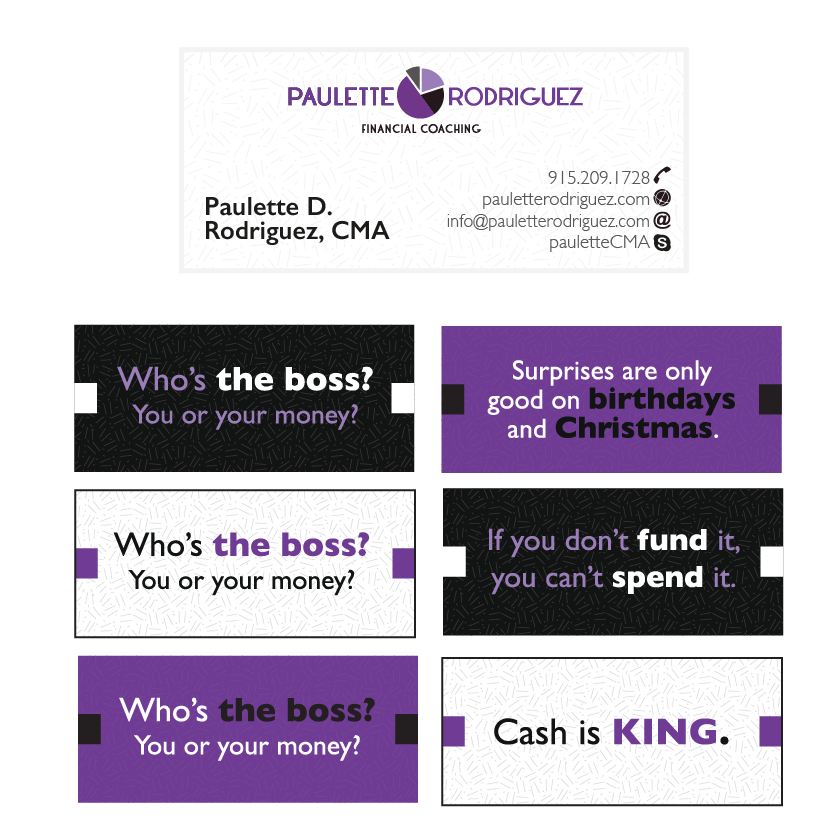 Financial Coach Business Cards
